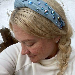 HANDMADE Twisted Knot Blue Headband